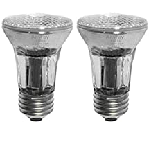 Anyray A1767Y (2)-Pack 50-Watts PAR16 Narrow Flood Halogen Light Bulb 130V Medium Screw E26 50W 120V Dimmable