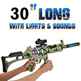 M-16 Camouflage Military Toy Machine Gun Army Rifle