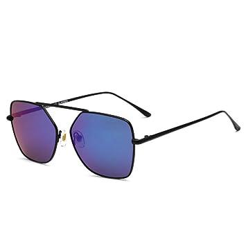 Aoligei Metall Polarisierende Sonnenbrillen Damen Europäische und amerikanische Mode 0LExNE
