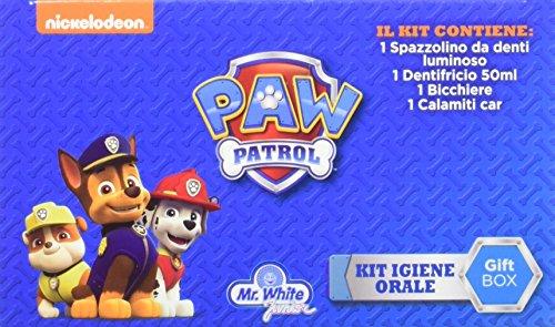 Paw Patrol- Set de Regalo con Cepillo Luminoso, Pasta Dientes ASO y Cochecito (Pokhara POK1011)