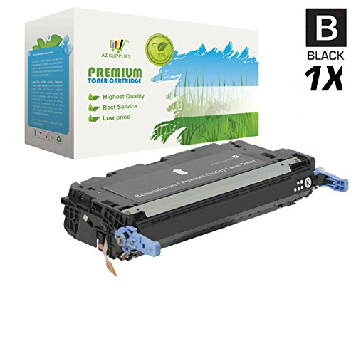 AZ SUPPLIES Toner | 30% more Print Yield | as a Replacement HP 501A / HP 502A Q6470A Black compatible with HP Color LaserJet 3600, 3600N, 3600DN
