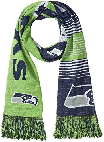Seattle Seahawks Reversible Split Logo Scarf]()