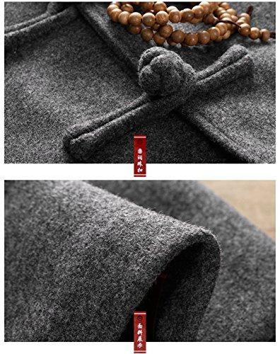 Wool High-end Tang Suit Medium Long Coats National Costume Characteristic Dress Retro Jackets Coats Men's Dress Full Dress by BAOLUO-Tang Suit (Image #4)