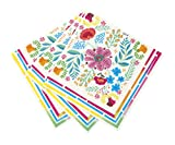 Talking Tables Boho-Napkin-Floral Party Accessory, Multi