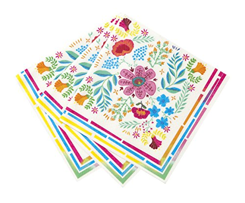 Talking Tables Boho-Napkin-Floral Party Accessory, Multi by Talking Tables