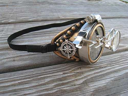 Steampunk Goggles Monocle with Key (Sunglass Monocle)