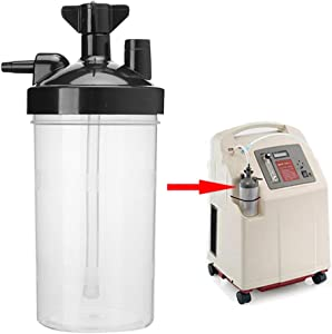 Parluna Oxygen Concentrator Humidifier, Translucent Design Bottle Humidifier, Plastic Reusable Home for Oxygen Generators