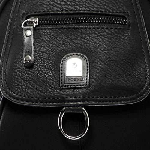 portés mono main femme Sacs épaule à Bretelles sacs anneaux Tendance et Noir dos casual Sac classiques Angkorly à EAq606