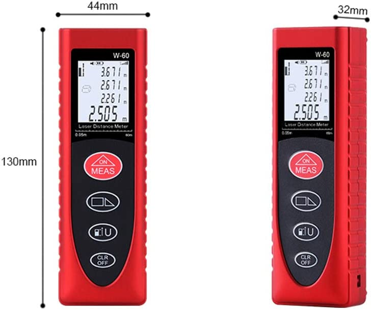 Medidor de distancia de mano inteligente de 40 m Herramienta de medici/ón de espacio port/átil multifunci/ón con LCD Medidor de distancia port/átil,Baugger
