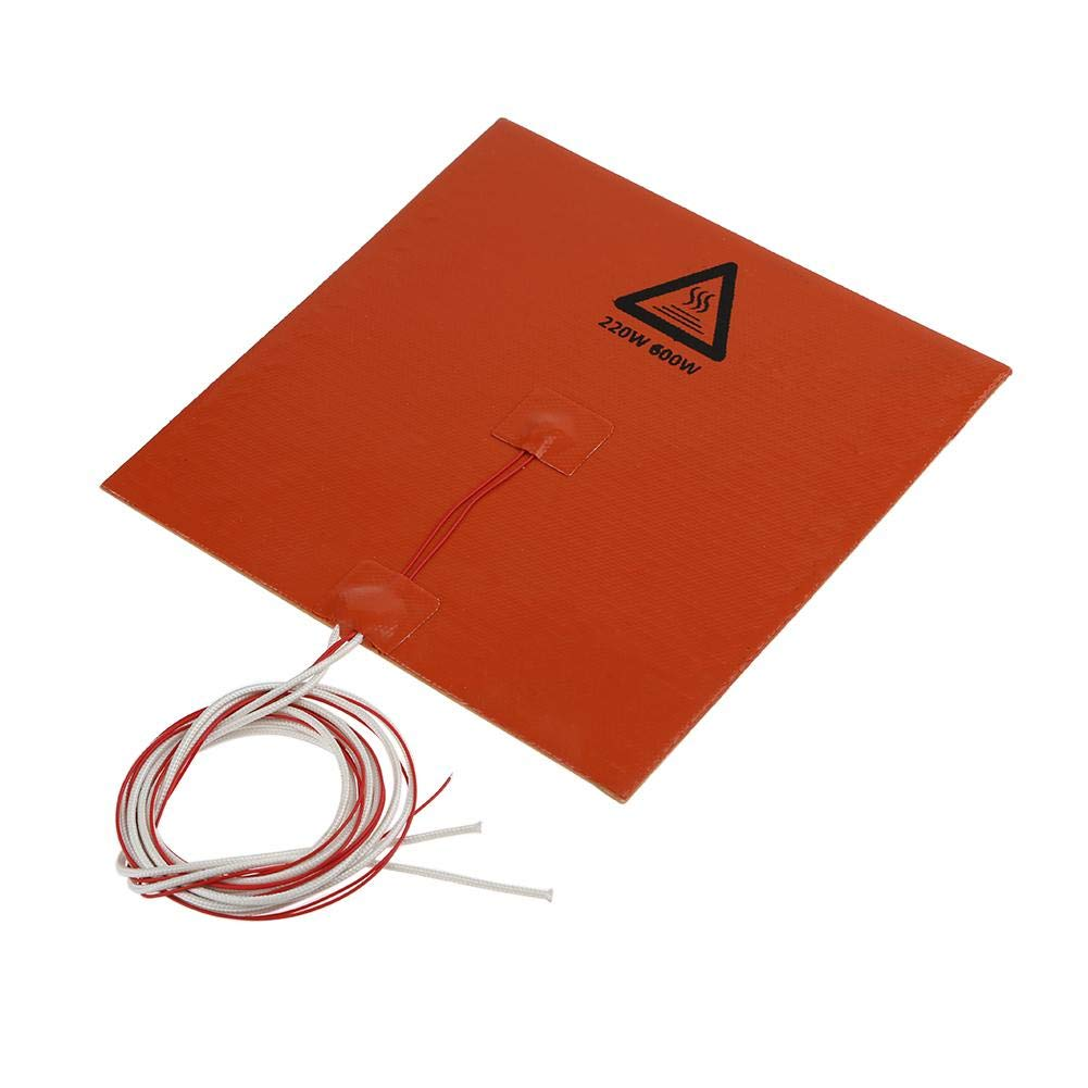 YouN Silicone Heating Pad Heater 220V 600W 200mmx200mm for 3D Printer Heat Bed