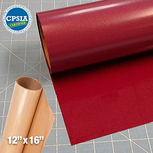 Siser Easyweed Burgundy Heat Transfer Craft Vinyl Roll (150ft x 15'' Bulk w/ Teflon roll) by Siser