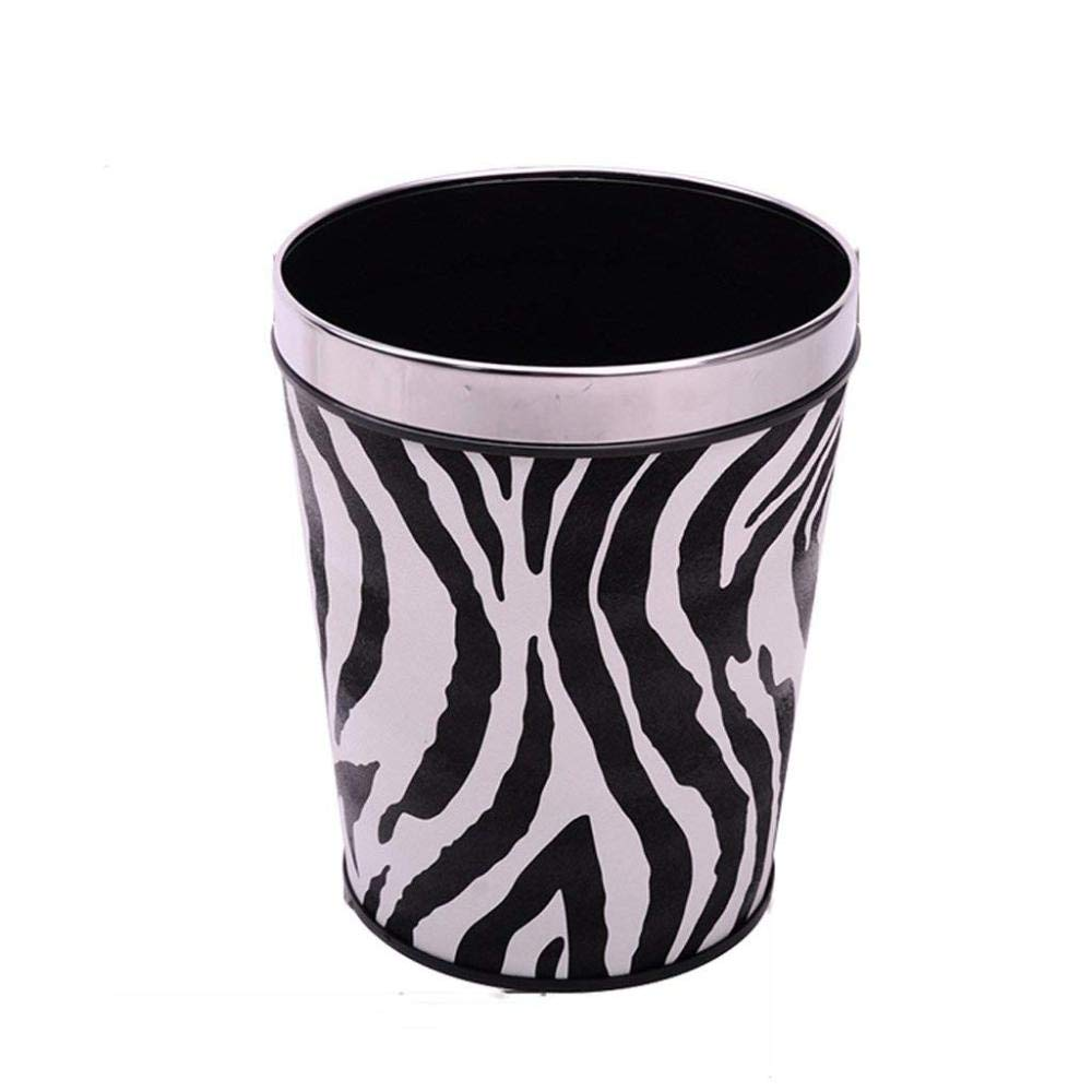 SBBMKJ Trash can European Trash can Home Without Cover Toilet Bathroom Kitchen Hotel Living Room Large with Pressure Ring Trash,Marking,A
