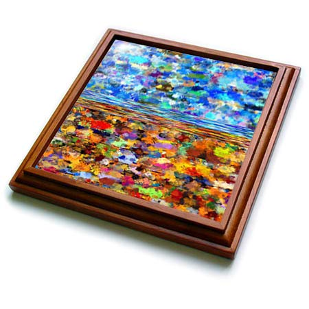 3dRose lens Art by Florene - Three D Abstract Design - Image of Multicolor Three D Painted Pattern - 8x8 Trivet with 6x6 ceramic tile (trv_293648_1)