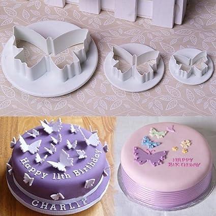 3 moldes de mariposa para fondant, decoración de galletas, moldes para tartas 3
