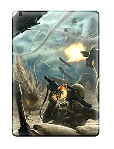 Hot Tpu Phone Case With Fashionable Look For Ipad Air - Guns Vs Angels