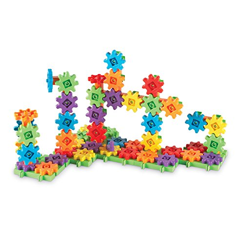 Deluxe Gear - Learning Resources Gears! Gears! Gears! Deluxe Building Set, Gear Toy, STEM Learning Toy, 100 Pieces, Ages 4+