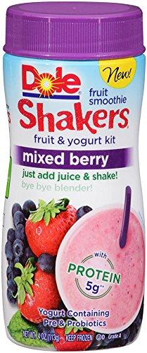Dole Fruit Smoothie Shakers Mixed Berry 4 Oz Frozen Amazoncom