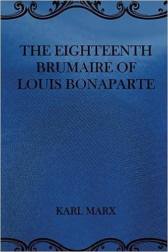 Book The Eighteenth Brumaire of Louis Bonaparte