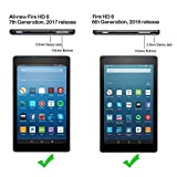 [Pack of 2] New Fire HD 8 Screen Protector, Gzerma Ultra-Thin Explosion-Proof Bubble Free Install Protective Film for Amazon New Kindle Fire HD8 2017 2016 Tablet Display