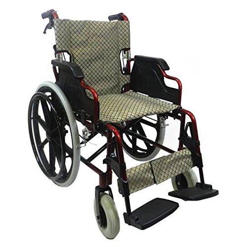 KosmoCare Elegant Plus Premium Lightweight Foldable Aluminium Wheelchair – Color Red