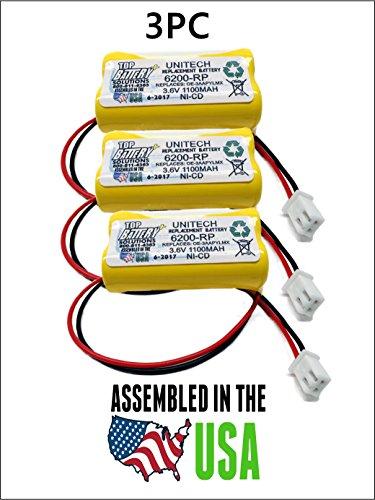 3.6v Emergency Lighting Battery - 3PC UNITECH 6200RP,3.6V NICAD BATTERY REPLACEMENT