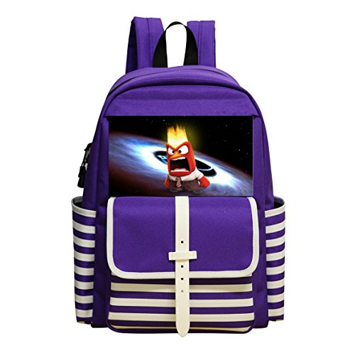 GGKKIS Rotten Tomatoes Inside Out (2015) School Backpack Bookbag Daypack Shoulder Student Bag
