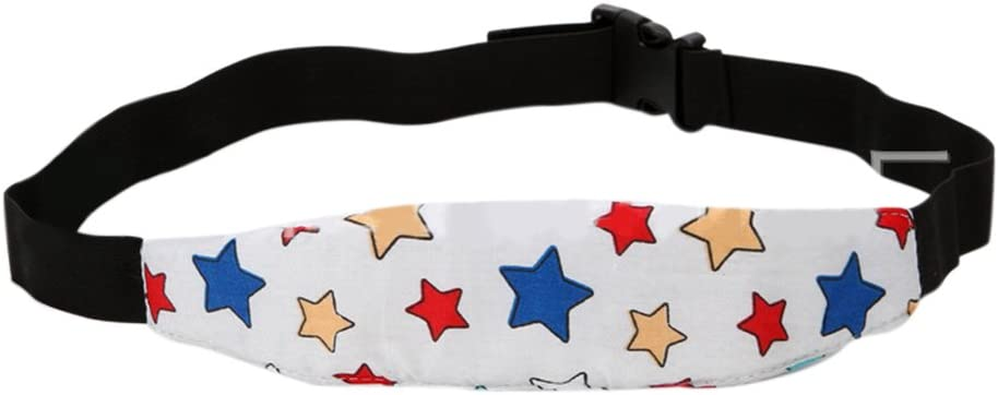 Semoic Random Patterns Infants Baby Head SUpport Pram Stroller Safety Seat Fastening Belt Adjustable Playpens Car Safety Seat Sleep Positioner