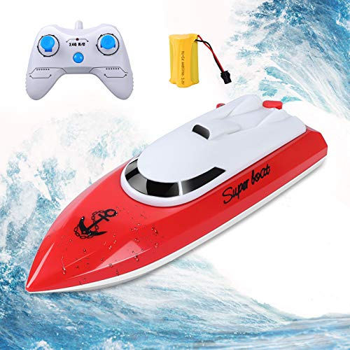 KINGBOT RC Boat, Remote Control Boat for Pools & Lakes 2.4GHz 10KM/H High Speed Radio Electric Racing Boat for Kids Adults Boys Girls