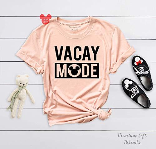 Vacay Mode Shirt, Disney World Trip Shirts, Matching Family Disneyland Outfit, Disney Summer Tanks, Mickey T-Shirt ()