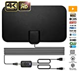 TV Antenna, Indoor TV Antenna for Digital HDTV, Over 60+Miles Long Range Access