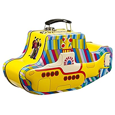 Vandor 64269 The Beatles Yellow Submarine Shaped Tin Tote with Embossing, Multicolored: Reusable Lunch Bags: Kitchen & Dining