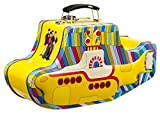 Vandor 64269 The Beatles Yellow Submarine Shaped Tin Tote with Embossing, Multicolored