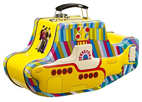 Vandor 64269 The Beatles Yellow Submarine Shaped Tin Tote with Embossing, ()