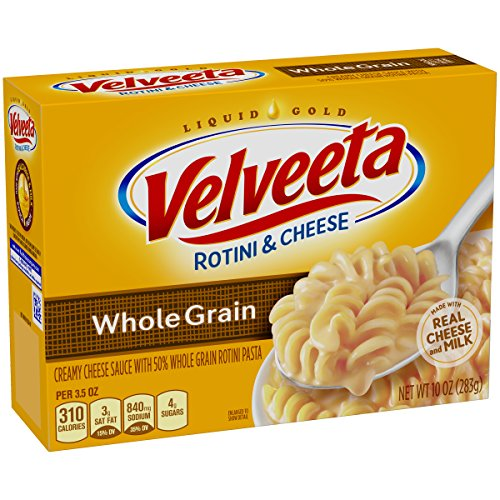 Velveeta Whole Grain Rotini & Cheese Dinner (10 oz Boxes, Pack of 12)