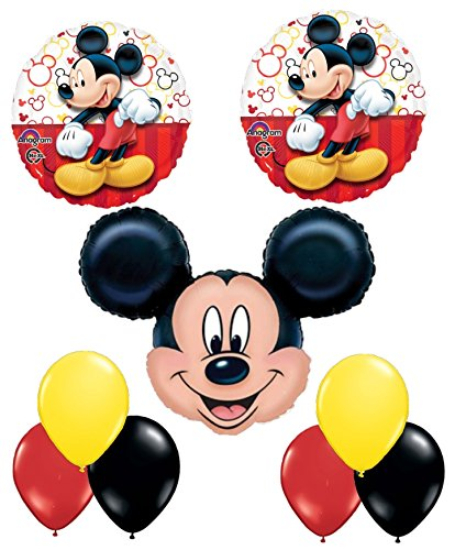 NEW Mickey Mouse Balloon Decoration Kit by Party Supplies (Mickey Mouse Party Supplies 1st)