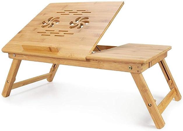 Todeco Table Portable Pour Ordinateur Plateau De Lit Pliable