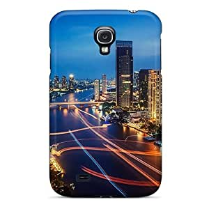 New Premium BrianLee River Lights In Bangkok Thail Skin Case Cover Excellent Fitted For Galaxy S4