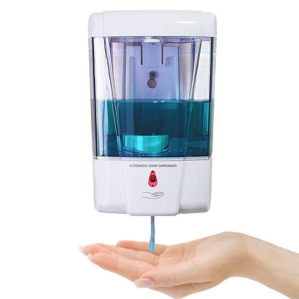 Sensor Seifenspender Edelstahl mit automatischer Ausl/ösung Batterien Infrarot Komplettpaket incl automatic soap dispenser //