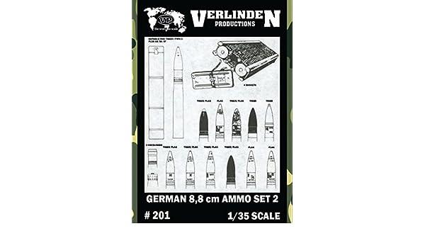 Verlinden 1:35 German 8.8cm Ammo Set 2 Resin Detail Set #201