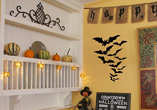 Our Bats Halloween Decorations Wall Decals are Vinyl Wall Decals displaying bats for your Halloween decor. These scary bat decorations look great on windows, walls, or candy bowls. (Spirit Halloween Website)