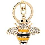 Da.Wa Cute Little Bee Styling Alloy Gold Keyring Keychain Bag Handbag Pendant Purse Hanging Key Ring for Girls Boy
