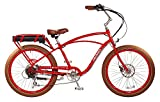 "Pedego Comfort Cruiser 26"" Classic Red with Brown Balloon Package 36V 15Ah"