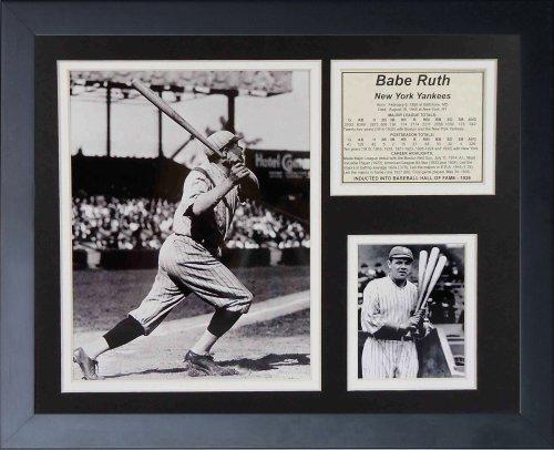 """Legenden Sterben Nie """"Babe Ruth Swing"""" gerahmtes Foto Collage, 11 x 35,6 cm von Legends Never Die"""