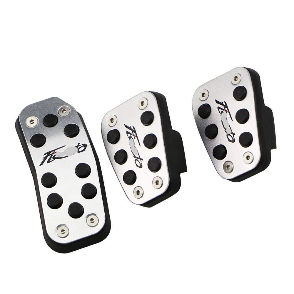 JNXZHQC Car stainless steel pedal AT MT pedal protection cover For Ford New Fiesta 2009 2019