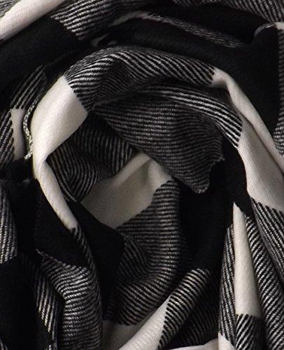 In Estremità Sciarpe Colore Black Tan Plaid Cashmere Couture Di Unisex Lusso Feel Pesca Caldo xPqgZ01wx