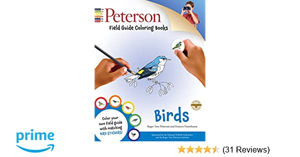 Peterson Field Guide Coloring Books Birds Peterson Field Guide