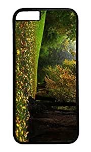 MOKSHOP Adorable Autumn Forest Glade Hard Case Protective Shell Cell Phone Cover For Apple Iphone 6 Plus (5.5 Inch) - PC Black