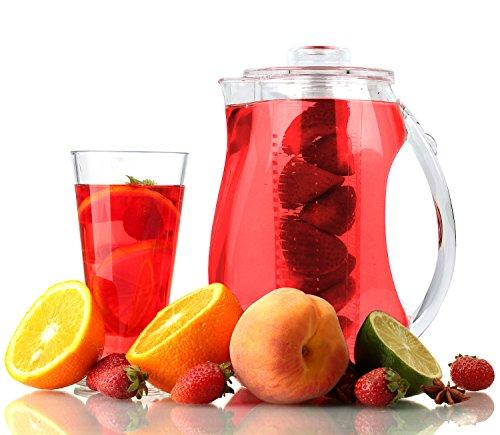 Estilo Acrylic Fruit Infusion Pitcher with Ice Core 2 Liter (72 oz/2.1 quart) by Estilo (Image #4)
