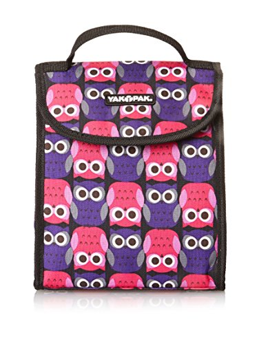 Yak Pak Bodega Lunch Tote, Owl Love Purple, One Size