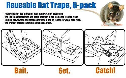 Yooyee Piège à Souris Attrape Rats Lot de 6 Tapette à Souris Rat Tueur de Souris à Réponse Rapide Réutilisables Pièges à Souris pour Utilisation Intérieure et Extérieure Lutte Contre les Rongeurs